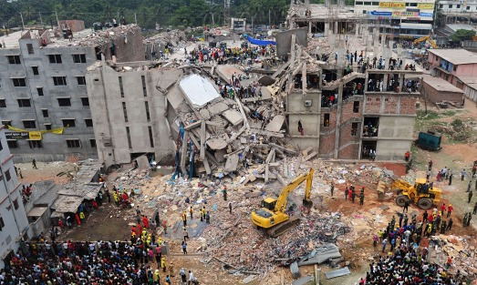 Rana Plaza building in Dhaka.